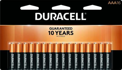 Photo of Duracell Coppertop AAA Alkaline Battery, 16pk