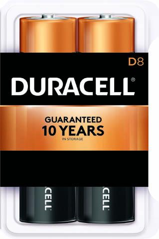 Photo of Duracell Coppertop D Alkaline Battery, 8pk
