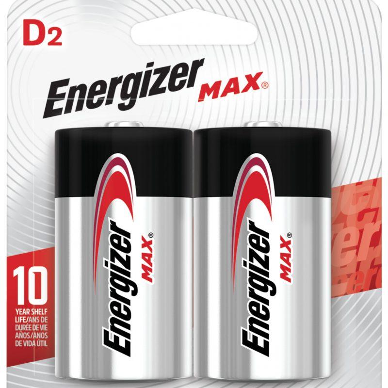 Photo of Energizer Max D Alkaline Battery, 2pk