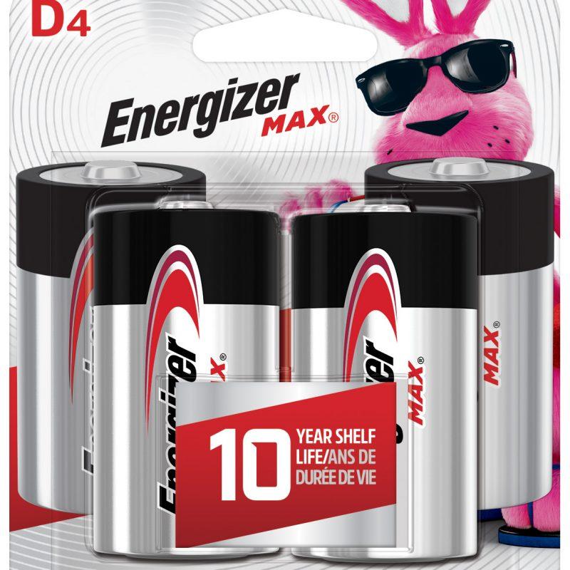 Photo of Energizer Max D Alkaline Battery, 4pk