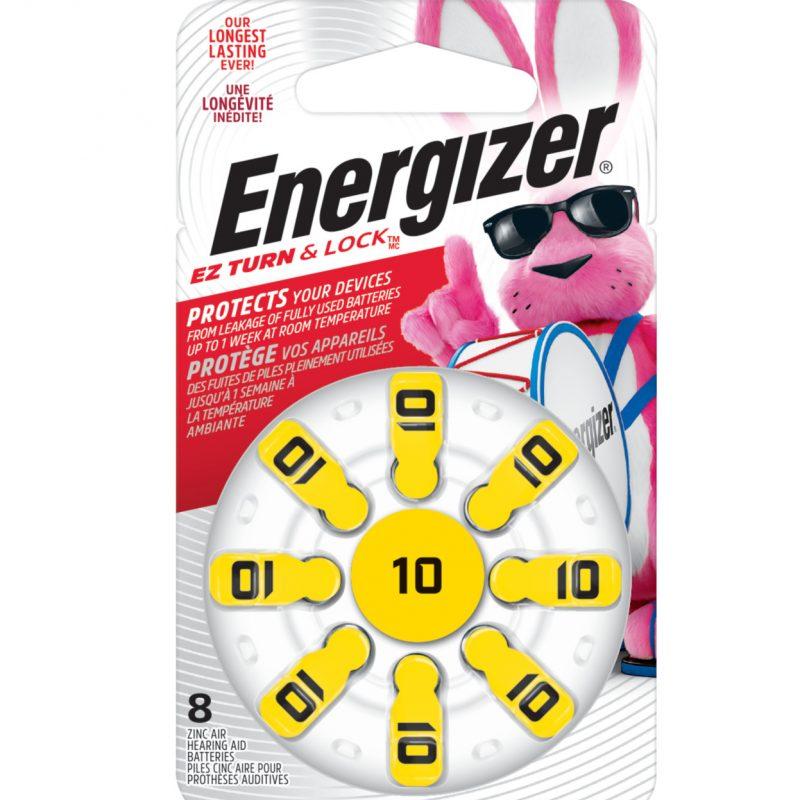 Photo of Energizer Size 10 Zinc Air Hearing Aid Battery, 8pk