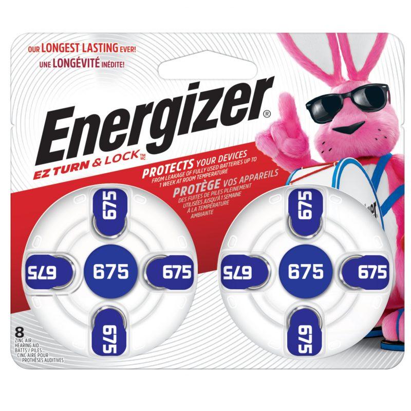 Photo of Energizer Size 675 Zinc Air Hearing Aid Battery, 8pk