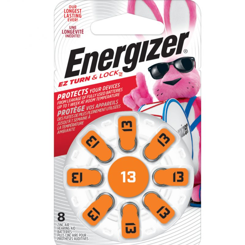 Photo of Energizer Size 13 Zinc Air Hearing Aid Battery, 8pk