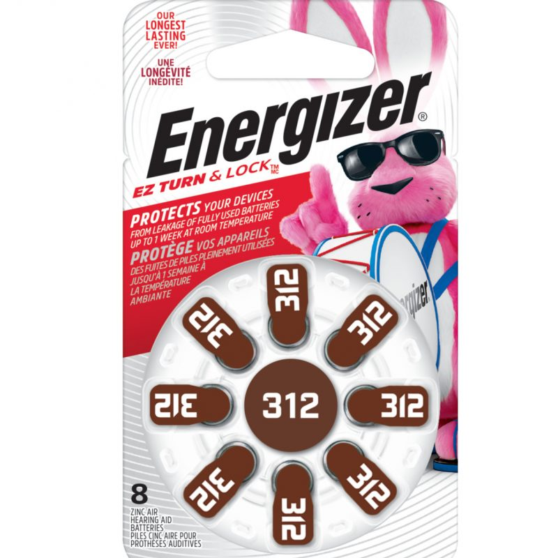 Photo of Energizer Size 312 Zinc Air Hearing Aid Battery, 8pk