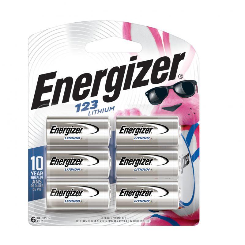 Photo of Energizer CR123 Lithium Battery, 6pk