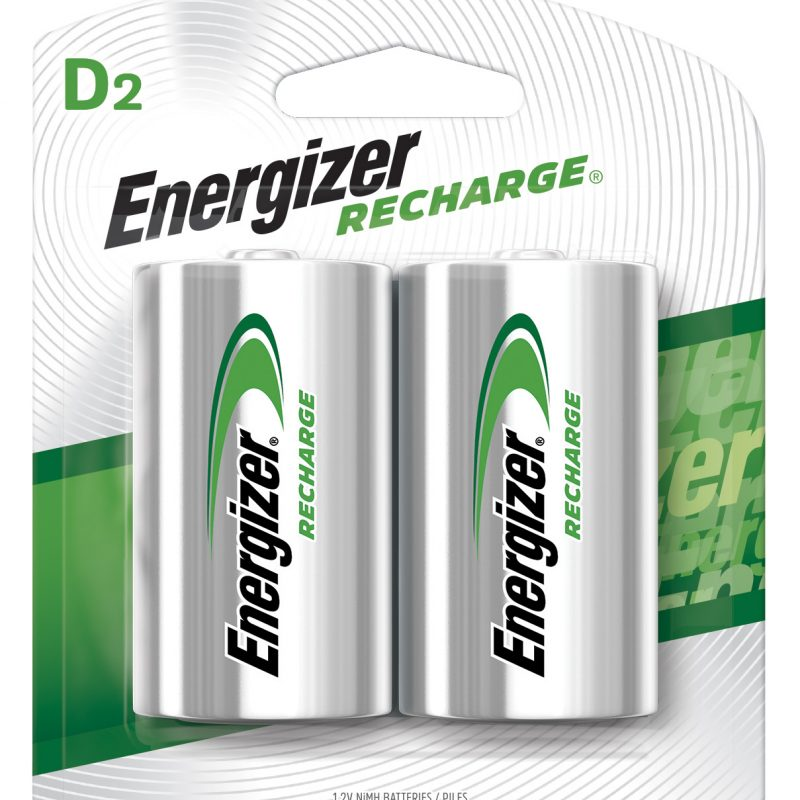 Photo of Energizer Recharge D NiMh Rechargeable Battery, 2pk