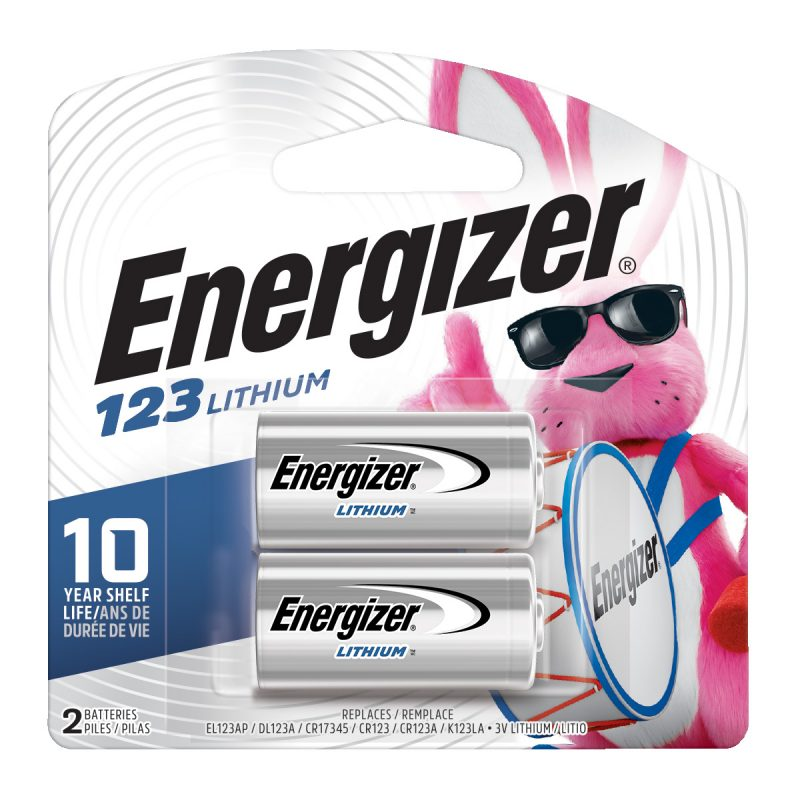 Photo of Energizer CR123 Lithium Battery, 2pk