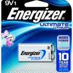 Photo of Energizer Ultimate 9V Lithium Battery, 1pk