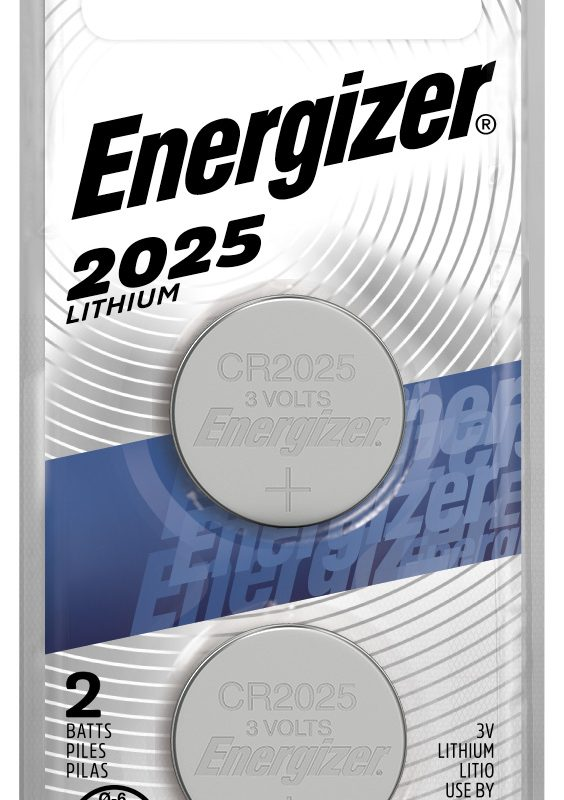 Photo of Energizer CR2025 Lithium Coin Cell, 2pk