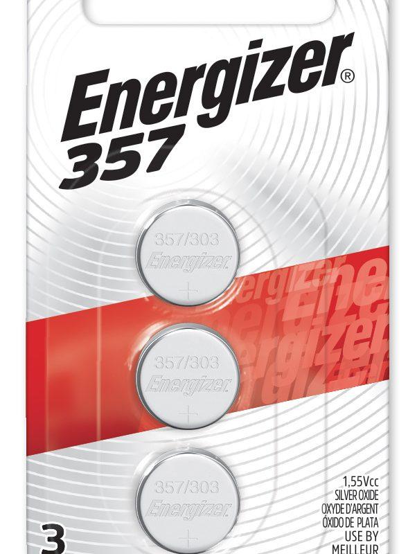 Photo of Energizer 357-303 Silver Oxide Button Cell, 3pk