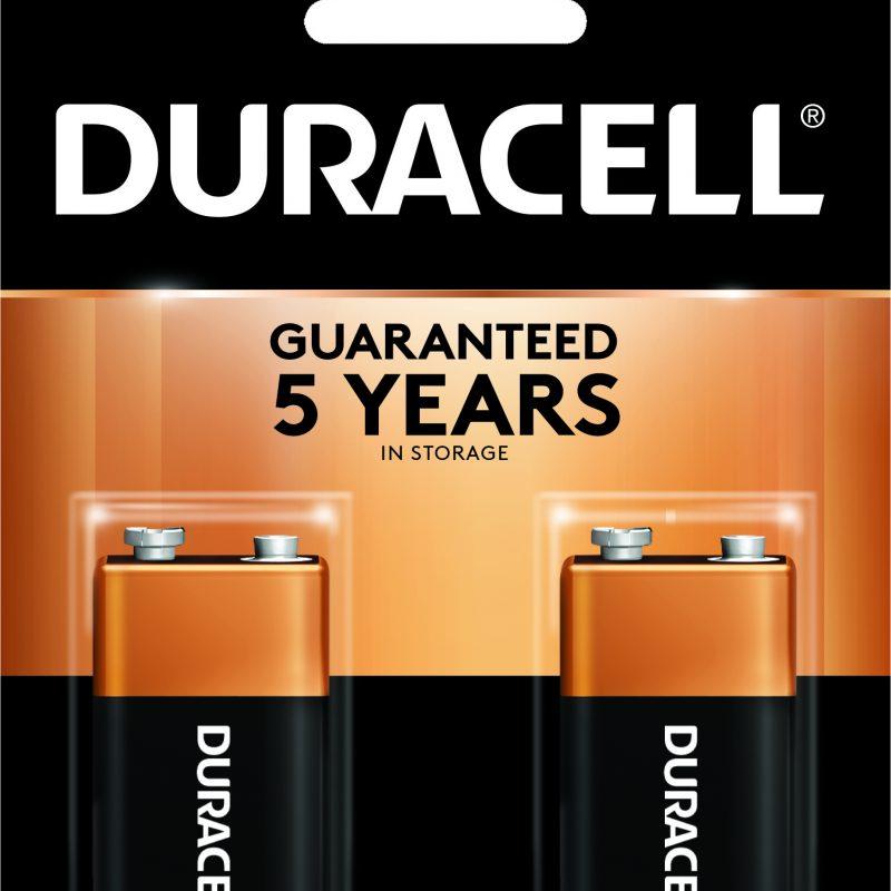 Photo of Duracell Coppertop 9V Alkaline Battery, 2pk