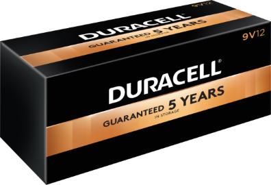 Photo of Duracell Coppertop 9V Alkaline Battery, bulk