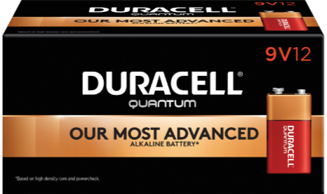 Photo of Duracell Quantum 9V Alkaline Battery, bulk