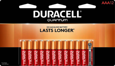 Photo of Duracell Quantum AAA Alkaline Battery, 12pk