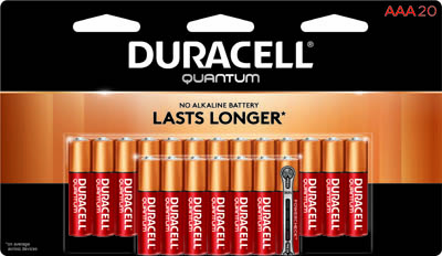 Photo of Duracell Quantum AAA Alkaline Battery, 20pk
