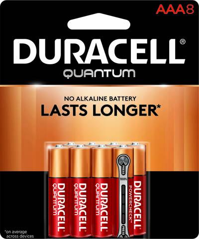 Photo of Duracell Quantum AAA Alkaline Battery, 8pk