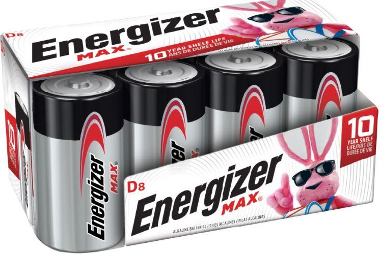 Photo of Energizer Max D Alkaline Battery, 8pk