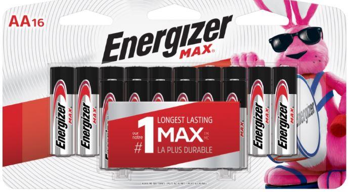 Photo of Energizer Max AA Alkaline Battery, 16pk