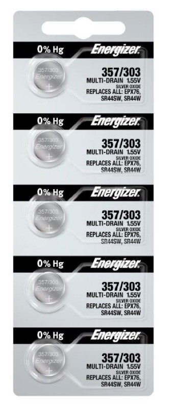 Photo of Energizer 357/303 Silver Oxide Button Cell, 5pc
