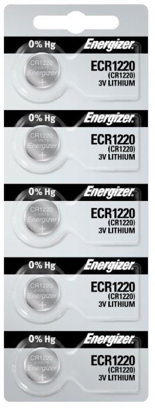 Photo of Energizer CR1220 Lithium Coin Cell, 5pc