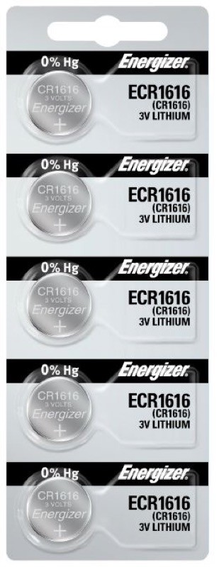 Photo of Energizer CR1616 Lithium Coin Cell, 5pc