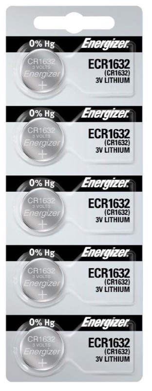 Photo of Energizer CR1632 Lithium Coin Cell, 5pc
