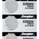Photo of Energizer CR2016 Lithium Coin Cell, 5pc