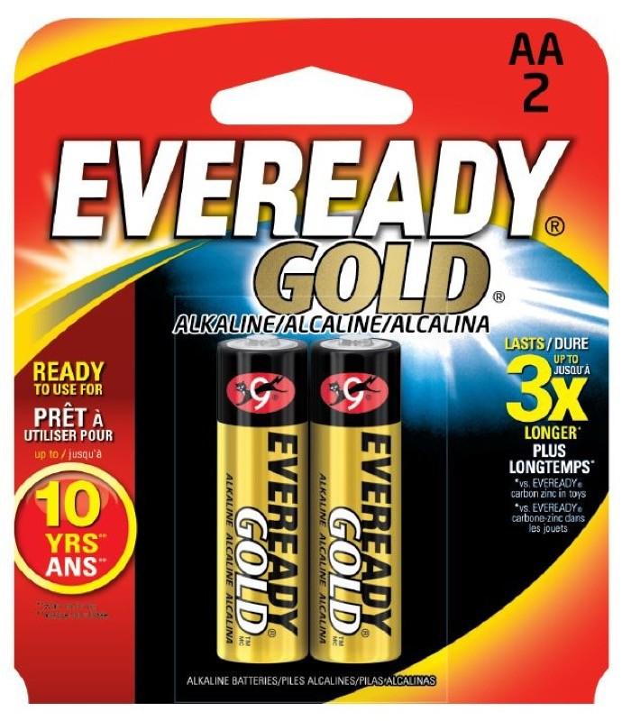 Photo of Eveready Gold AA Alkaline Battery, 2pk