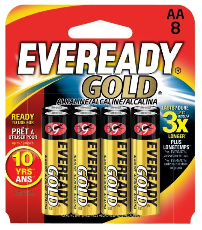 Photo of Eveready Gold AA Alkaline Battery, 8pk
