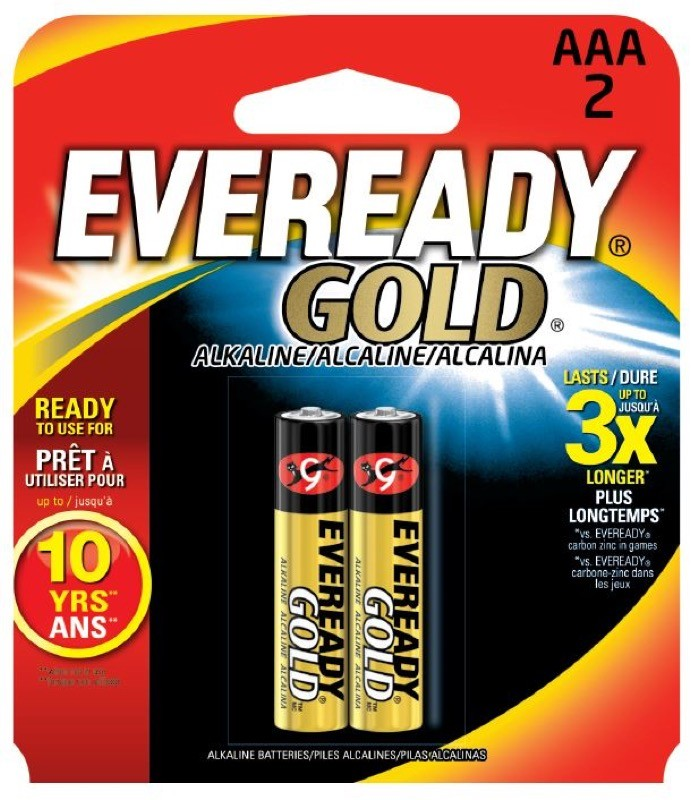 Photo of Eveready Gold AAA Alkaline Battery, 2pk