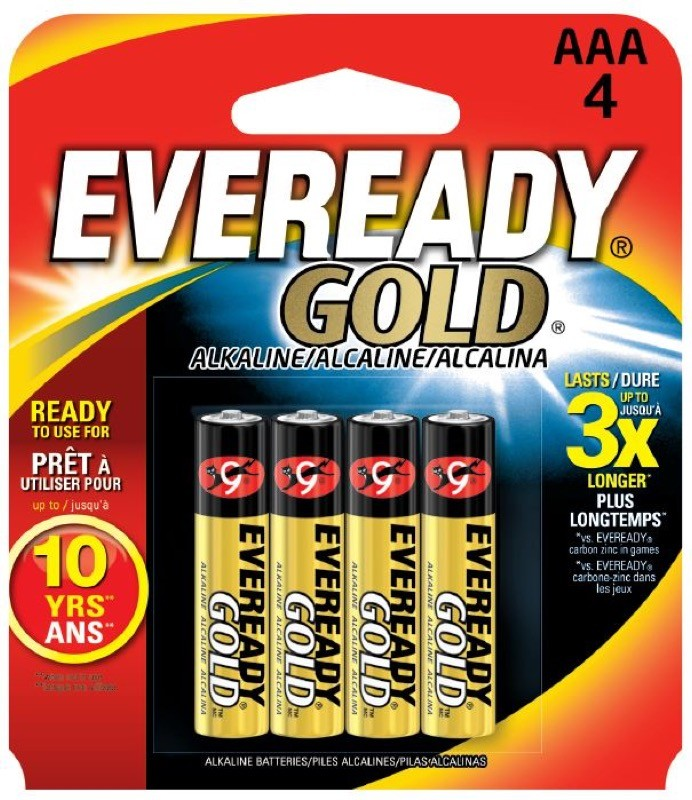 Photo of Eveready Gold AAA Alkaline Battery, 4pk