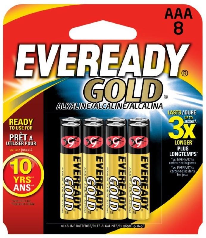 Photo of Eveready Gold AAA Alkaline Battery, 8pk
