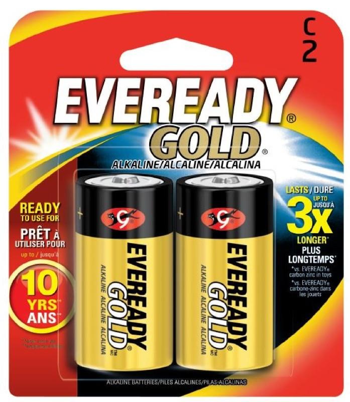 Photo of Eveready Gold C Alkaline Battery, 2pk