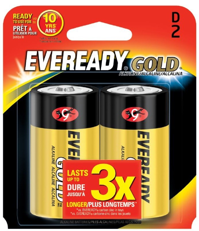 Photo of Eveready Gold D Alkaline Battery, 2pk