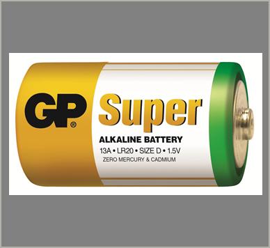 Photo of GP Super D Alkaline Battery, bulk
