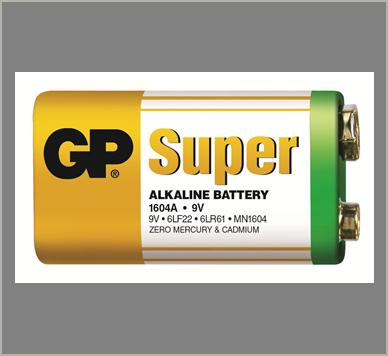 Photo of GP Super 9V Alkaline Battery, bulk