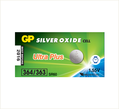 Photo of GP Ultra Plus 364 Silver Oxide Button Cell, 5pc