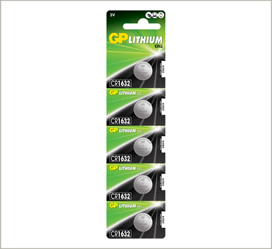Photo of GP CR1632 Lithium Coin Cell, 5pc