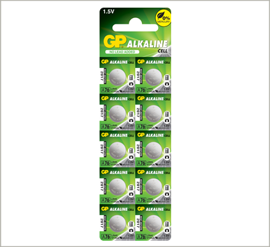 Photo of GP A76 Alkaline Battery, 10pc