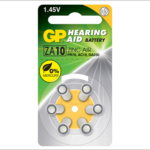 Photo of GP Size 10 Zinc Air Hearing Aid Battery, 6pk