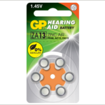 Photo of GP Size 13 Zinc Air Hearing Aid Battery, 6pk