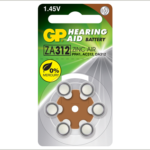 Photo of GP Size 312 Zinc Air Hearing Aid Battery, 6pk