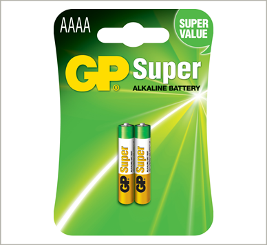 Photo of GP Super AAAA Alkaline Battery, 2pk