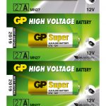 Photo of GP Super A27 Alkaline Battery, 5pc