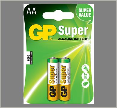 Photo of GP Super AA Alkaline Battery, 2pk