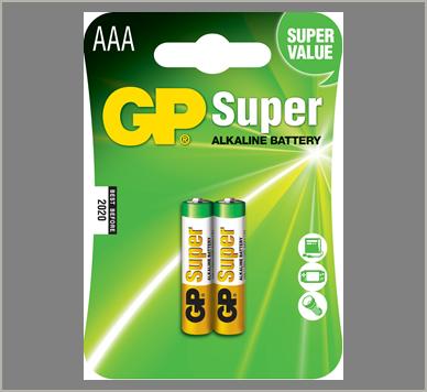 Photo of GP Super AAA Alkaline Battery, 2pk