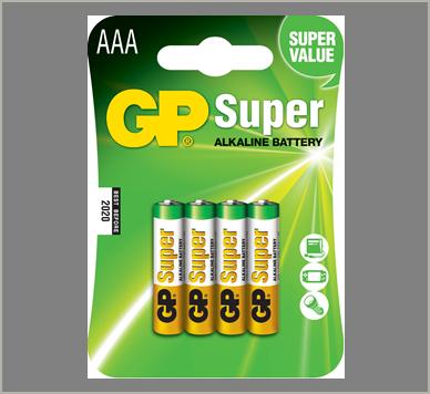 Photo of GP Super AAA Alkaline Battery, 4pk