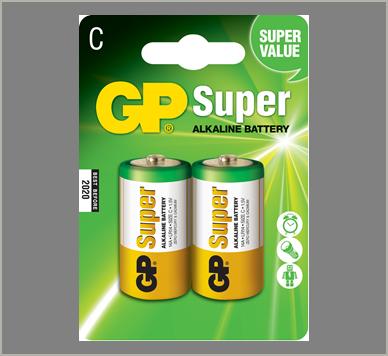 Photo of GP Super C Alkaline Battery, 2pk