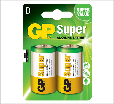 Photo of GP Super D Alkaline Battery, 2pk
