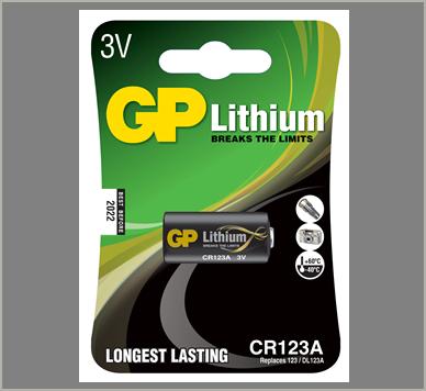 Photo of GP CR123 Lithium Battery, 1pk